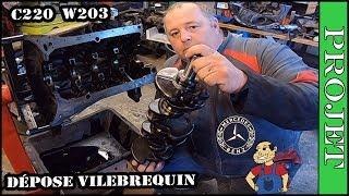 ⭐Dépose vilebrequin  moteur Mercedes C220 w203 OM611⭐