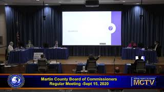 Martin County Board Regular Meeting Sept. 15, 2020 part 2