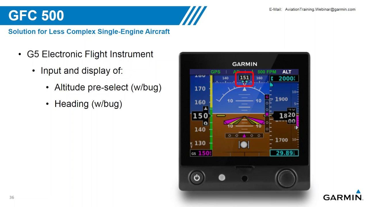 Garmin GFC 500/600 Autopilots (Webinar recording) by Sporty's Pilot Shop