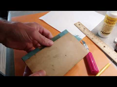 Repairing antique book with kozo mulberry paper