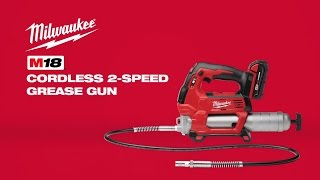 Milwaukee® M18™ Cordless 2-Speed Grease Gun Kit 2646-22CT