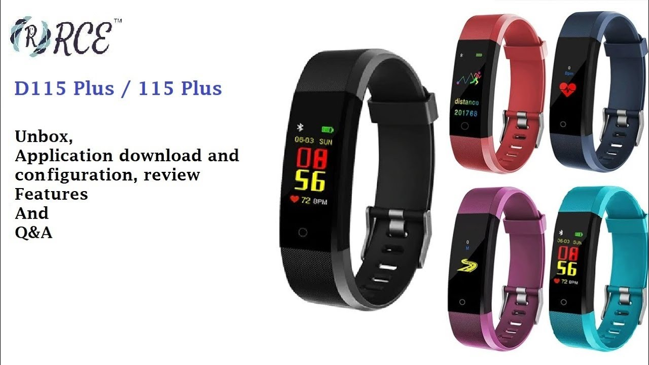 D115 Plus / 115 Plus / ID115 Plus - Smart watch: unbox, mobile application  setup and feature review