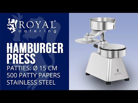 Hamburger Press - 15 cm RCHM-150B | Royal Catering