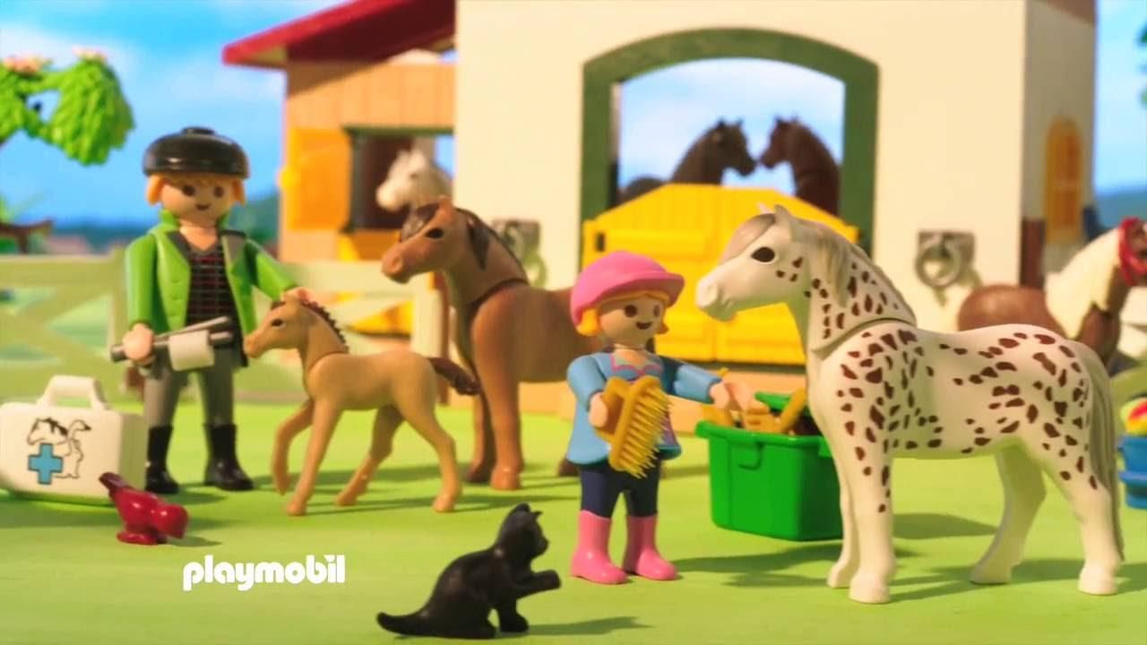 Playmobil poney club 6927 6947 6948 6949 et 6950 youtube for Piscine playmobil jouet club