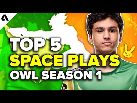 Top 5 Space Plays LA Valiant | Overwatch League Season 1 / OWWC 2018 thumbnail