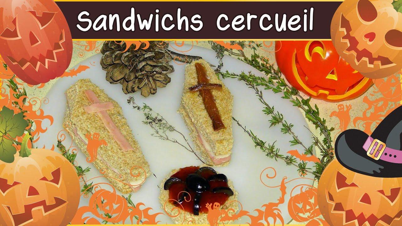 recette des sandwichs cercueil halloween youtube. Black Bedroom Furniture Sets. Home Design Ideas
