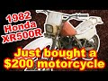 Bought a $200 barnfind motorcycle - Part 1- Honda XR500R Restoration