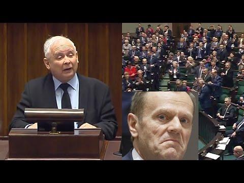 Spięcie w Sejmie o Donalda Tuska - Jarosław Kaczyński rozniósł Tuska i Platformę