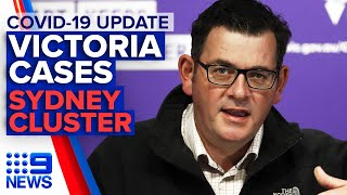 Coronavirus: Victoria case numbers, Sydney cluster | 9 News Australia
