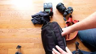 Small Bag + Full Frame Mirrorless Camera (Think Tank 30i + Sony a7R III)