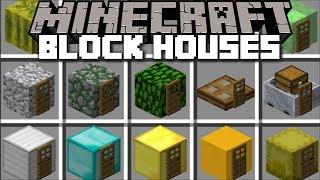 Minecraft BLOCK SPAWNER HOUSE MOD / USE BLOCKS TO SPAWN HOUSES !! Minecraft Mods