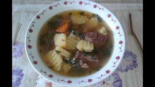 Суп на говядине с гречкой в мультиварке Кулинарный рецепт
