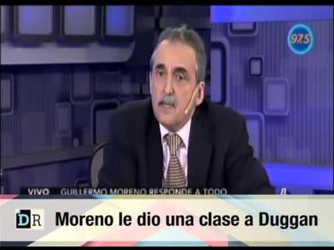 Moreno le dio una clase a Duggan
