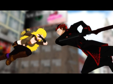 [RWBY Fan Made]Yang Vs Adam (Salute My Favourite Idol--Monty Oum)