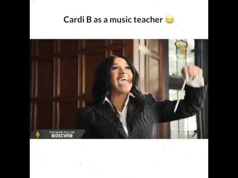 Cardi b as a music teacher 😂