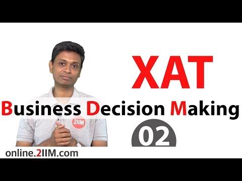 XAT Preparation - Business Decision Making 02