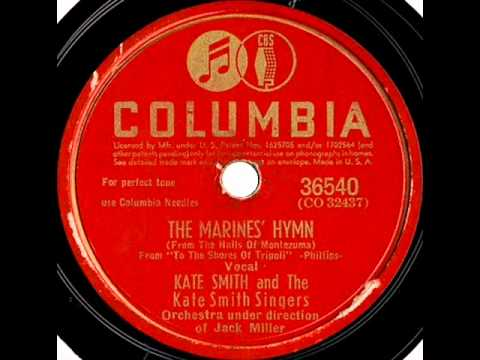 The Marines' Hymn by Kate Smith on 1942 Columbia 78.