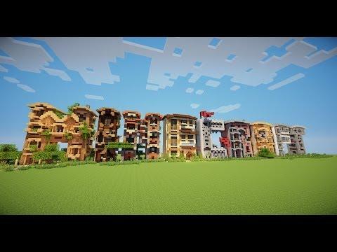 Minecraft Letter frame houses Timelapse!