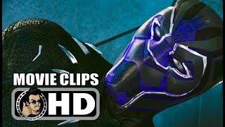 BLACK PANTHER - 3 Movie Clips + Trailers (2018) Chadwick Boseman Marvel Superhero Movie HD