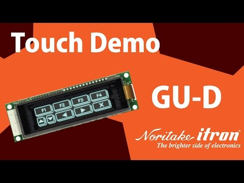 Noritake VFD: Capacitive Touch Module -  GU128X32D-D903S