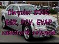 Chrysler C300 emissions: PCV, EVAP canister & purge, EGR valve locations