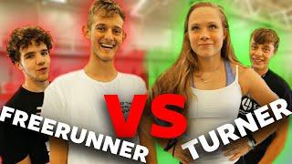 2 TURNERS VS 2 FREERUNNERS | Boazvb