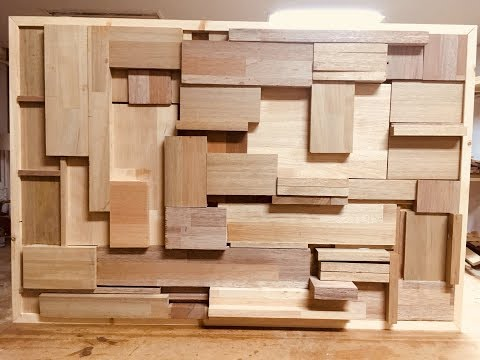 wood wall art(sound diffuser)
