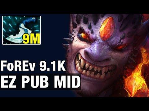 EZ PUB MID - FoREv 9.1K MMR Plays Lion - Dota 2