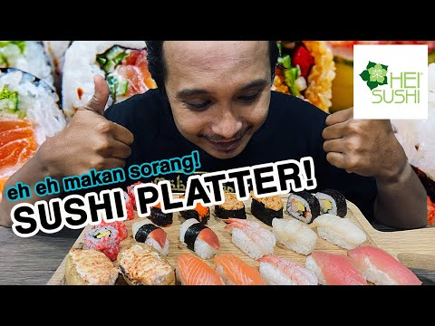 Sushi Platter | Eating Broadcast / Food Review / Mukbang Singapore
