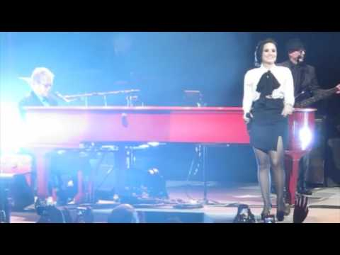 Elton John rocks out with Demi Lovato, Shawn Mendes and Patrick Stump