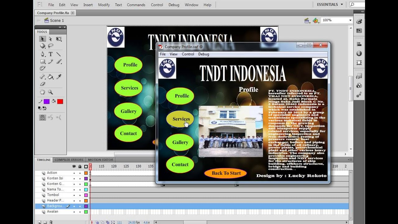 Company Profile Animation Sederhana Adobe Flash Professional Youtube