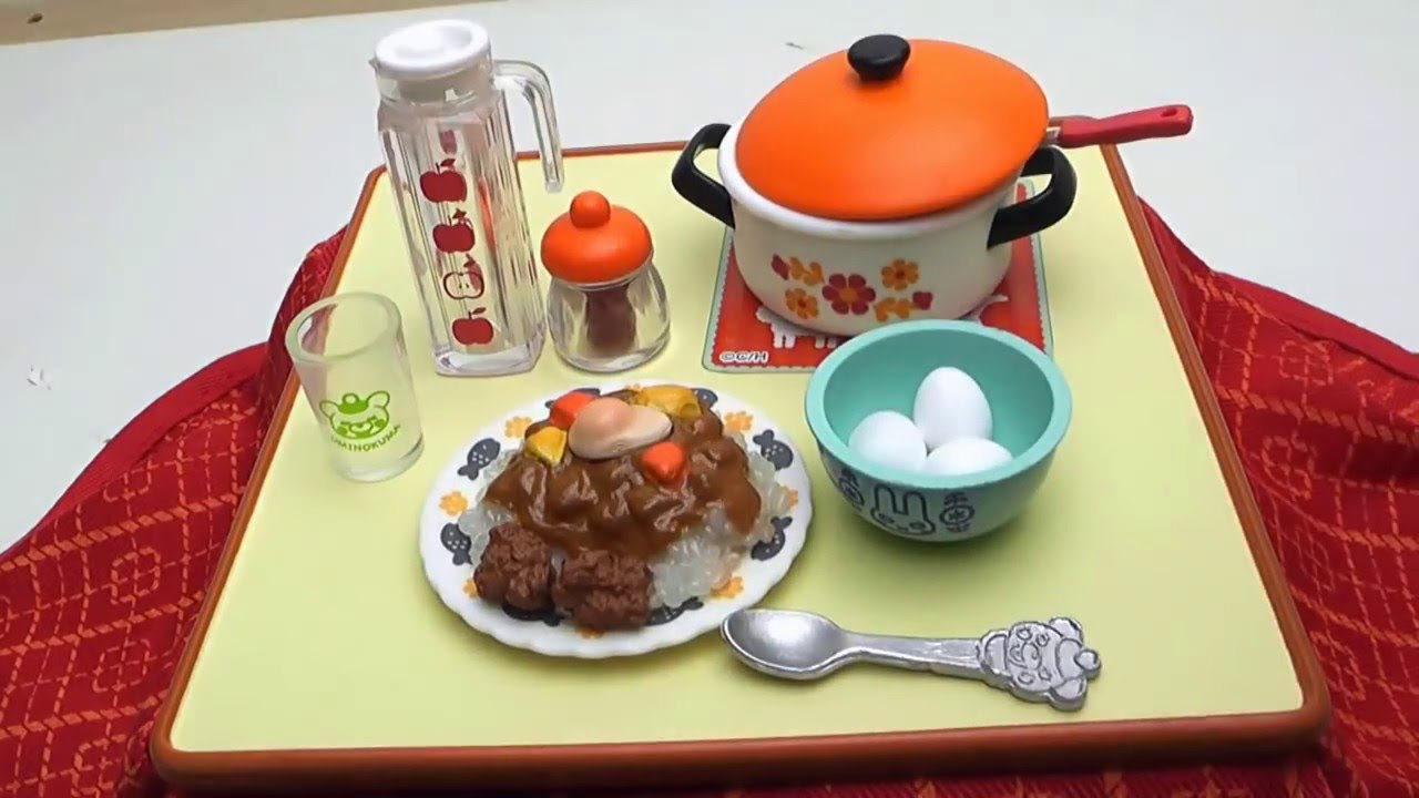 RARE Re-Ment Miniature Momoya the Japanese nostalgic meals Set rement No.02