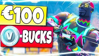 €100 EURO AAN V-BUCKS UITGEVEN in Fortnite Battle Royale?! (Nederlands NL)