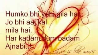 Anjaana Anjaani - Title (Sad)  Song With Lyrics .