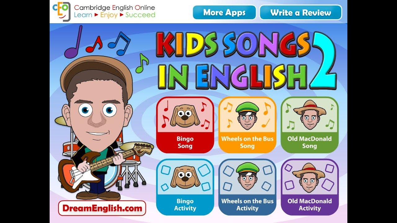 Kids Songs in English 2 HD iPad App Sing-A-Long!