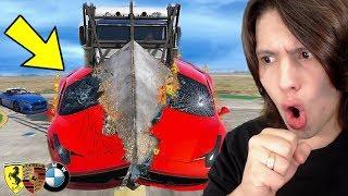 BATIDAS REALISTAS COM SUPER CARROS NO GTA 5!!