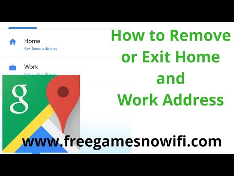 How To Edit or Remove Home & Work Address in Google Maps   Android & iOS