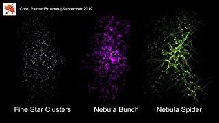 Space Brushes - September 2019 New Corel Painter Brushes