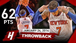 Download Carmelo Anthony NEW MSG Record Full Highlights vs Bobcats 2014.01.24 - UNREAL 62 Points, CAREER-HIGH Mp3 and Videos
