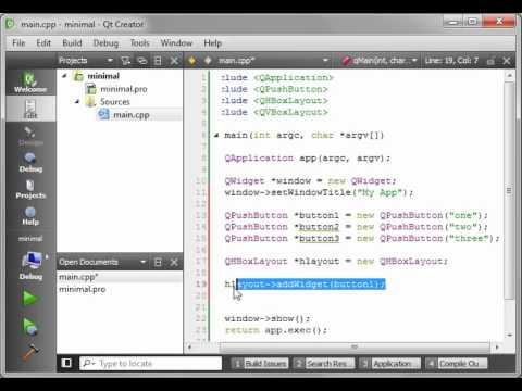 C++ Qt 8 - Horizontal and Vertical Layouts