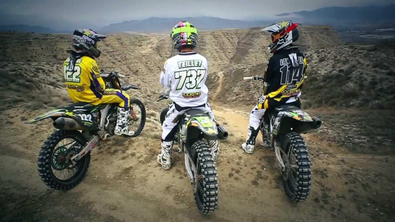 team rockstar bud racing kawasaki (2013 official) - youtube