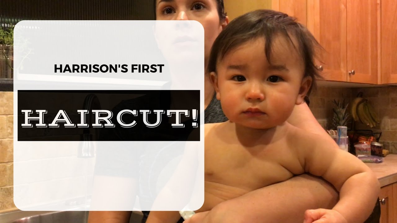 Harrisons First Haircut 1 Year Old Baby Youtube