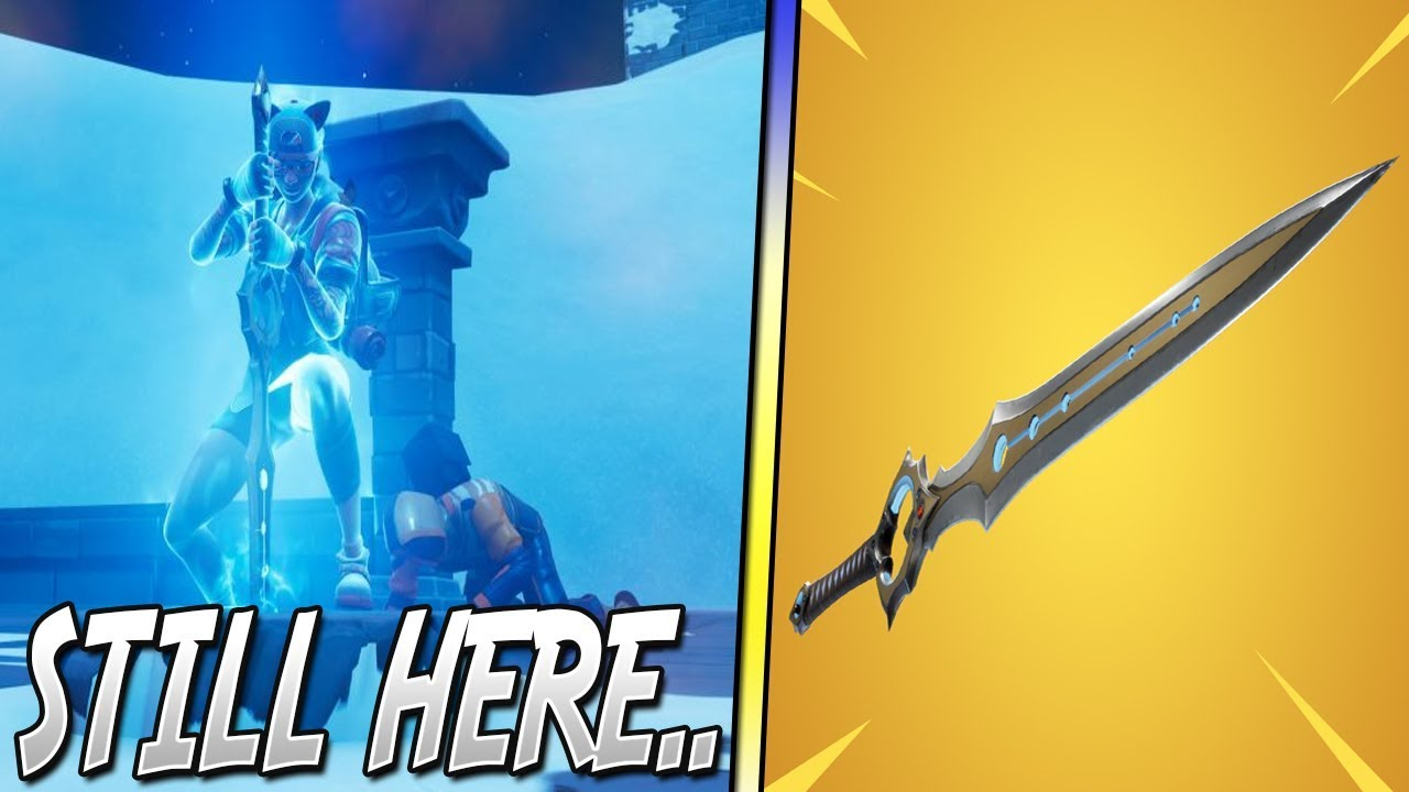 The Sword Is Still In Fortnite Infinity Blade Not Vaulted Youtube