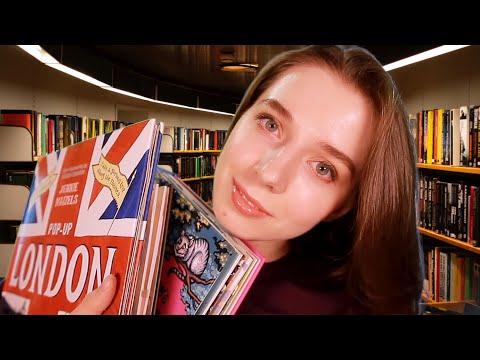 АСМР Книжный магазин (Часть 1). Милый продавец покажет объемные 3Д книги. ASMR Pop Up Book Shop.