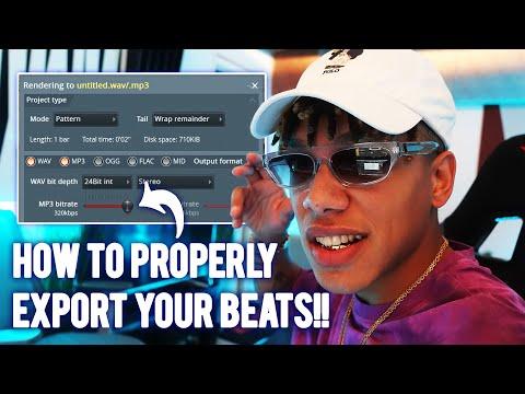 HOW TO EXPORT YOUR BEATS IN FL STUDIO 20 (MP3, WAV, TRACK STEMS)
