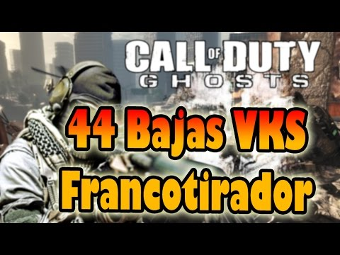 Ghosts | VKS gameplay francotirador 44 bajas