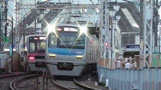 (3027と3056)青砥~京成立石 立石2号~3号踏切 快速西馬込とアクセス特急成田空港