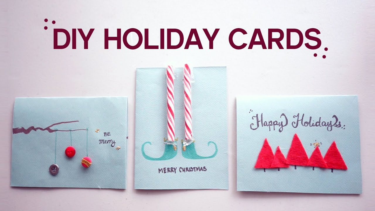 diy 3 christmasholiday cards youtube kristyandbryce Images