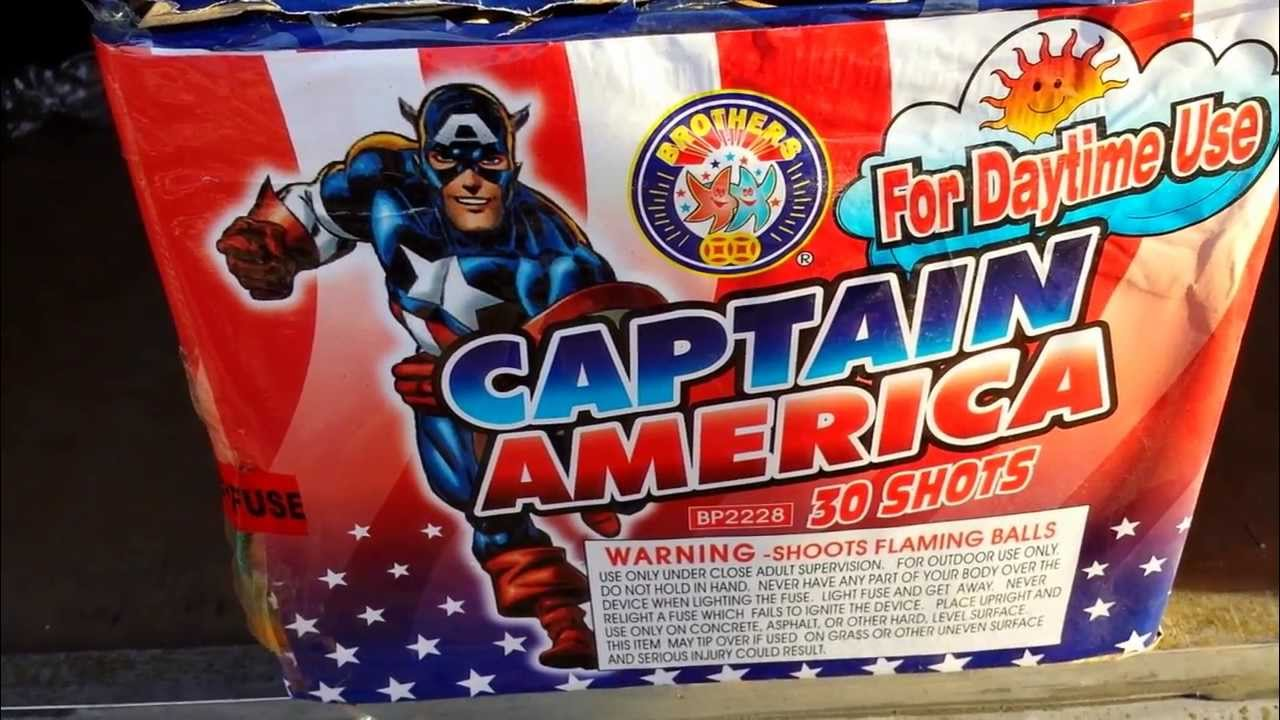 Captain America 350 gram cake by Brothers Pyrotechnics demo and review