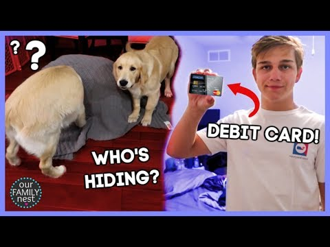 teen's-first-debit-card-&-scaring-the-dogs!